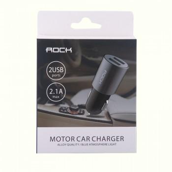 АЗУ с 2-мя USB выходами Rock Motor Car Charger 2100mA